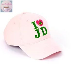 John Deere Embroidered I Heart JD Trucker Hat Pink